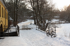 Old water mill (Riemanello) Tags: trip snow denmark vinter mtb singular
