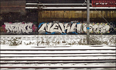 Retro / Neka / Letas (Alex Ellison) Tags: urban graffiti tag onetime trackside northlondon neka 1time 1t nekah neks