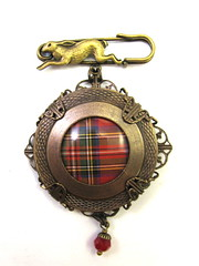 Ancient Romanced Series - Scottish Tartans - Royal Stewart in Antique Brass
