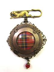 Ancient Romanced Series - Scottish Tartans - Royal Stewart in Antique Brass
