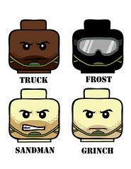 CoD-MW3-Heads-Version-1 (Dirks_Designs) Tags: face modern truck call frost lego duty grinch legos sandman decal minifig decals minifigure warfare of