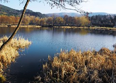Lake Pancharevo -   (Stella VM) Tags: blue sky mountain lake beautiful landscape village bulgaria         pancharevo