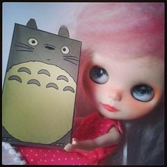 Mi pequeña algodonosa ha encontrado un nuevo amigo! Gracias a It's a doll life! #blythe #blythedoll #totoro #itsadolllife #doll