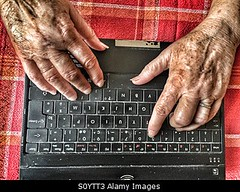 Photo accepted by Stockimo (vanya.bovajo) Tags: old woman senior female work computer notebook person one hands women technology hand adult laptop working using indoors mature elderly older retired typing iphone pensioner iphonegraphy stockimo