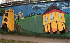 A Faringdon Mural (Canis Major) Tags: subway mural signpost rhyme oldtownhall faringdon faringdonfolly