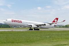 Airbus A340 313 Swiss HB-JMA ZRH Zurich Airport Switzerland 20160510 (roli_b) Tags: airplane schweiz switzerland airport suisse suiza swiss aircraft zurich jet international airbus zürich flughafen aviao airlines svizzera flugzeug takeoff aereo avion a340 starting zrh a340300 hbjma a340313 pistenkreuz