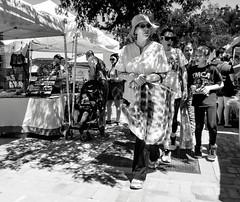 On A Mission (Barb McCourt) Tags: blackandwhite bw farmersmarket streetphotography bnw blackandwhitephotography candidshot ardovinosdesertcrossing epphotography sunlandparknewmexico sonyrx100m4