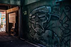 Senigai_02 (Sakak_Flickr) Tags: graffiti gifu nokton shoppingarcade shotengai tonyagai nokton35f14 senitonyagai