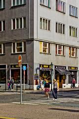 crossroad // prague (Das halbrunde Zimmer) Tags: street city urban architecture canon 50mm europa europe prague streetphotography prag moderne stadt crossroad brutalism moderism