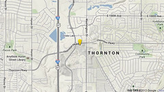 Approximate location of the tornado's touch down at 2:55pm MDT.  The twister was rated an F2 with winds of 157mph.