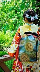 Kimono girl,Tokyo Chofu Floral Garden (sapphire_rouge) Tags: woman girl rose japan garden botanical tokyo bulgaria  kimono miss chofu  wafuku keio    furisode    wahuku