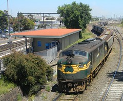 A71 passing the Old West Footscray Station (damos photos) Tags: bulldog pn 2012 aclass emd a71 vline freightaustralia westfootscray freightvictoria
