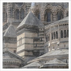 Cathdrale de la Major (me*voil - away) Tags: windows texture architecture marseille cathedral basilica columns arches roofs sideview cathdraledelamajor
