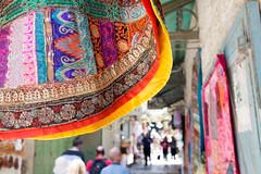 Jerusalem old city, street bazaar. (Phil Royall) Tags: street israel jerusalem textiles x100