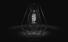 Tischlampe (Rauschverteilung Fotografie) Tags: blackandwhite bw lamp lightbulb lights shadows symmetry