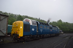 55022 (as 55007) starting up at Grosmont (colin9007) Tags: english electric grey yorkshire royal class coco 55 napier scots grosmont nymr deltic d9000 55022