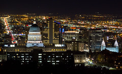 Salt Lake City, Utah (Jim Boud) Tags: streets building night dark temple lights evening utah downtown cityscape capitol saltlakecity valley mormon lds mormontemple saltlaketemple utahstatecapitol saltlakevalley scyscrapers thechurchofjesuschristoflatterdaysaints canon70200mm utahcapitol canonef70200mmf4lusm jimboud wasatchvalley canoneos60d