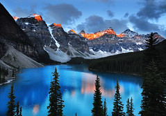 Supernatural (Surreal McCoy (Alvin Brown)) Tags: lake canada mountains sunrise rockies rocky alberta banff superaplus aplusphoto bestcapturesaoi elitegalleryaoi