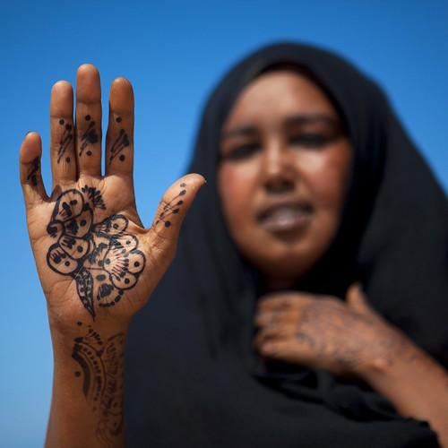 Salam aleikoum with henna - Somaliland