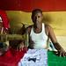 Tailor sewing a Somaliland flag, Berbera