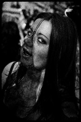 Zombie Walk (085) - 23Oct11, Paris (France) (]) Tags: portrait blackandwhite bw woman paris girl dead death scary blood noiretblanc zombie walk mort femme fear grain makeup nb parade spooky panic gore horror terror sang zip maquillage marche cutup horreur peur livingdead terreur fermeture panique clair zombiewalk effrayant mortvivant fermetureclair dpece