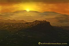 Sicilia-City Sunrise (duldinger) Tags: photoshop sunrise landscape enna nikon sonnenuntergang landschaft sicilia d60 cs5