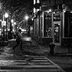 counting snowflakes on a quiet night (.brianday) Tags: street snow night zeiss photography michigan f14 sony 85mm carl alpha brianday zeisscontest2011 headlinescontest