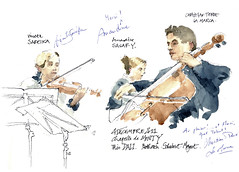 Trio Dali, 04-12-2011 (gerard michel) Tags: sketch concert aquarelle watercolour croquis triodali