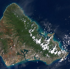 Pearl Harbor, Hawaii (NASA Goddard Photo and Video) Tags: hawaii waikiki nasa pearlharbor honolulu satelliteimage