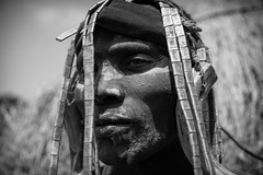portrait of a warrior with the painted face of the Mursi tribe, omo valley, ethiopia (anthony pappone photography) Tags: africa people tribes afrika omovalley ethiopia mursi afrique etiopia etnic    africantribe