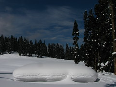 A shepherd's hut covered by snow, Gulmarg ski resort (omnia2070) Tags: india ski forest landscape dessert sweet shepherd snowy resort hut kashmir meringue piste gulmarg