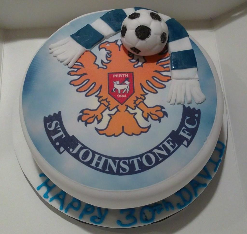 St Johnstone Birthday Cake
