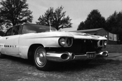 Class of Fifty-Nine (bimmer1502) Tags: bw white black classic film car olympus cadillac zuiko om1 1959 tmax100 coupedeville 35mmf2 ratlook