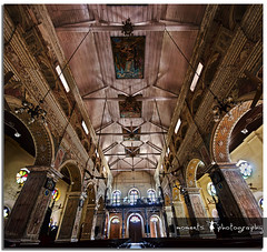 a beautiful place of worship.. (PNike (Prashanth Naik)) Tags: roof light india building church architecture nikon asia cathedral fort kerala indoors kochi vertorama d7000 pnike