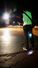 (TylerMurrayPhotography) Tags: light shadow musician last lens video check audience bright guitar cords sony band sound flare chance guitarist videographer a230