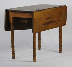 32. Early Oak Drop Leaf Table