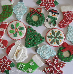 Christmas Collection 2011 (Songbird Sweets) Tags: santa christmas snowflakes snowman christmastree holly ornaments poinsettias candycane wreaths sugarcookies songbirdsweets