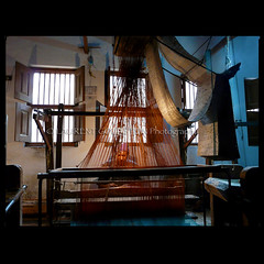 Weaving Dreams (designldg) Tags: india man colour heritage thread mystery dream atmosphere workshop soul varanasi tradition weaver kashi weaving loom benaras artcraft handloom uttarpradesh  indiasong
