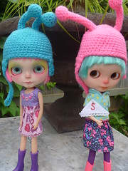 Little Boo and Sniffles are so happy with their new bug helmets that were a gift from their wonderful Auntie Katie!!  We love you!!!