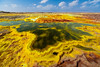 Acid pool (Thierry Hennet) Tags: blue orange sunlight green toxic yellow zeiss landscape volcano african sony acid salt landmark crater ethiopia sulfur cloudysky greatriftvalley a900 lowangleview danakil horizonoverland hottemperature dallol cz1635mmf28