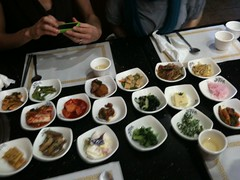 Lovely display of Korean food for Heather's birthday lunch.