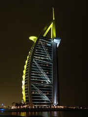 Green Burj Al Arab - Unusual (Sir Francis Canker Photography ) Tags: world longexposure trip travel blue panorama reflection tower art tourism monument skyline architecture night skyscraper landscape island cityscape shot desert dusk muslim islam dune uae middleeast landmark visit icon tourist best palm arabic emirates burjalarab nocturna desierto lightning arabian grattacielo ever thunder unitedarabemirates impressive gcc islamic jumeirah persiangulf duabi rascacielos wolkenkratzer lucena tallestbuilding emea gratteciel burjdubai        sirfranciscankerjones  7starshotel tz10 burjkhalifa zs7 pacocabezalopez