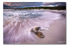 Friendly Beaches (iv), Tasmania (Matthew Stewart | Photographer) Tags: park sea sky seascape seaweed beach water rock clouds sunrise sand rocks matthew australia stewart national friendly beaches tasmania freycinet