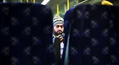 Transport (-The Wickerman-) Tags: camera portrait male hat train canon 50mm check glasgow candid 5d f18 wickerman wintre