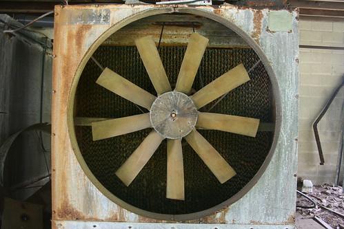 Broken chiller fan (detail)