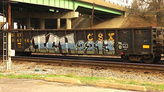 ICHABOD (BLACK VOMIT) Tags: train graffiti yme gondola ich freight ichabod csx 2213