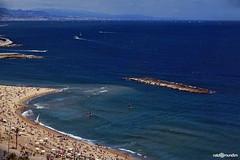 Praia - Barcelona - 2011 (naldomundim) Tags: barcelona sky praia beach canon spain espanha barca bcn wide 5d bara ceu oceano naldo 1635 mark2 2011 mundim naldomundim