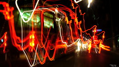 Street Car ;D (AXEHD) Tags: christmas street light red toronto ontario canada love car night speed lights long december magic iso transit shutter