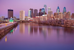 Purple Philadelphia Sunset (chris lazzery) Tags: sunset philadelphia pennsylvania southstreetbridge canonef24105mmf4l 5dmarkii bw30nd