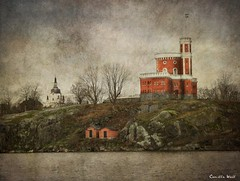 Kastellet (Milla's Place) Tags: texture water buildings sweden stockholm citadel islet textured kastellet skeletalmess
